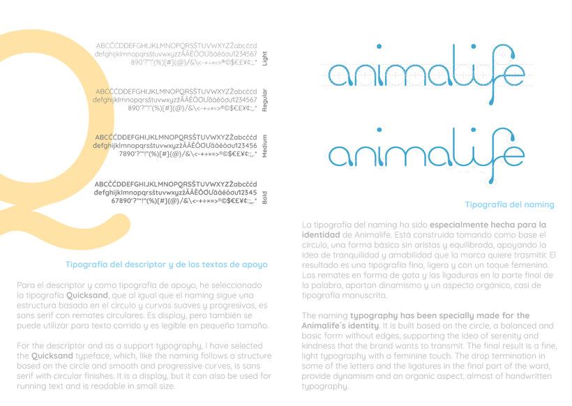 Clínica veterinaria Animalife. Identidad corporativa. 1