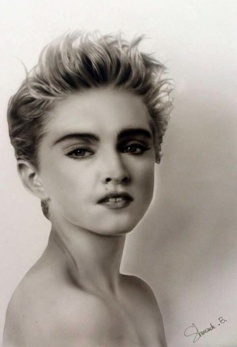 Retrato Con Aerógrafo de Madonna  1