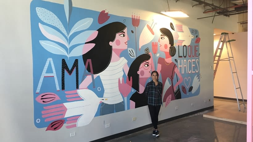MaryKay Mural 3