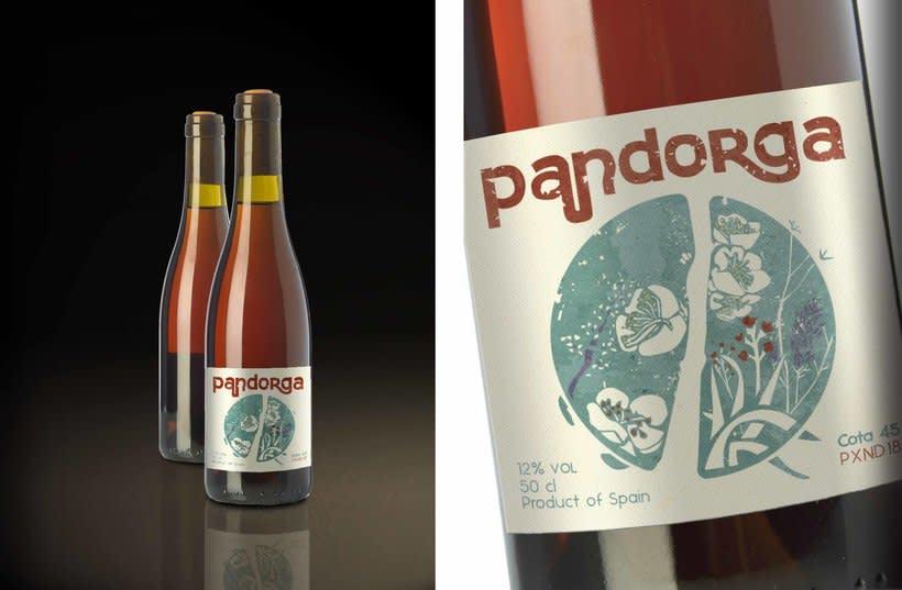 Etiqueta de vino. Pandorga 1