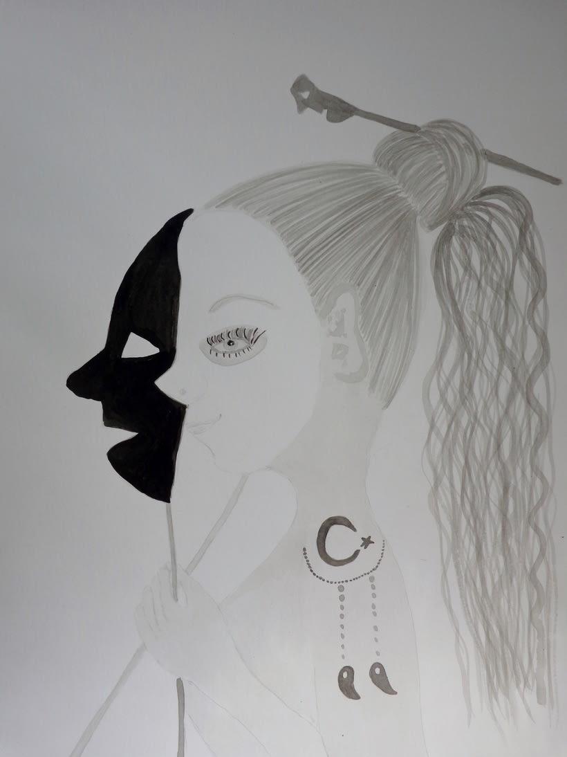 Máscaras entintas / Introducción a la ilustración con tinta china -1