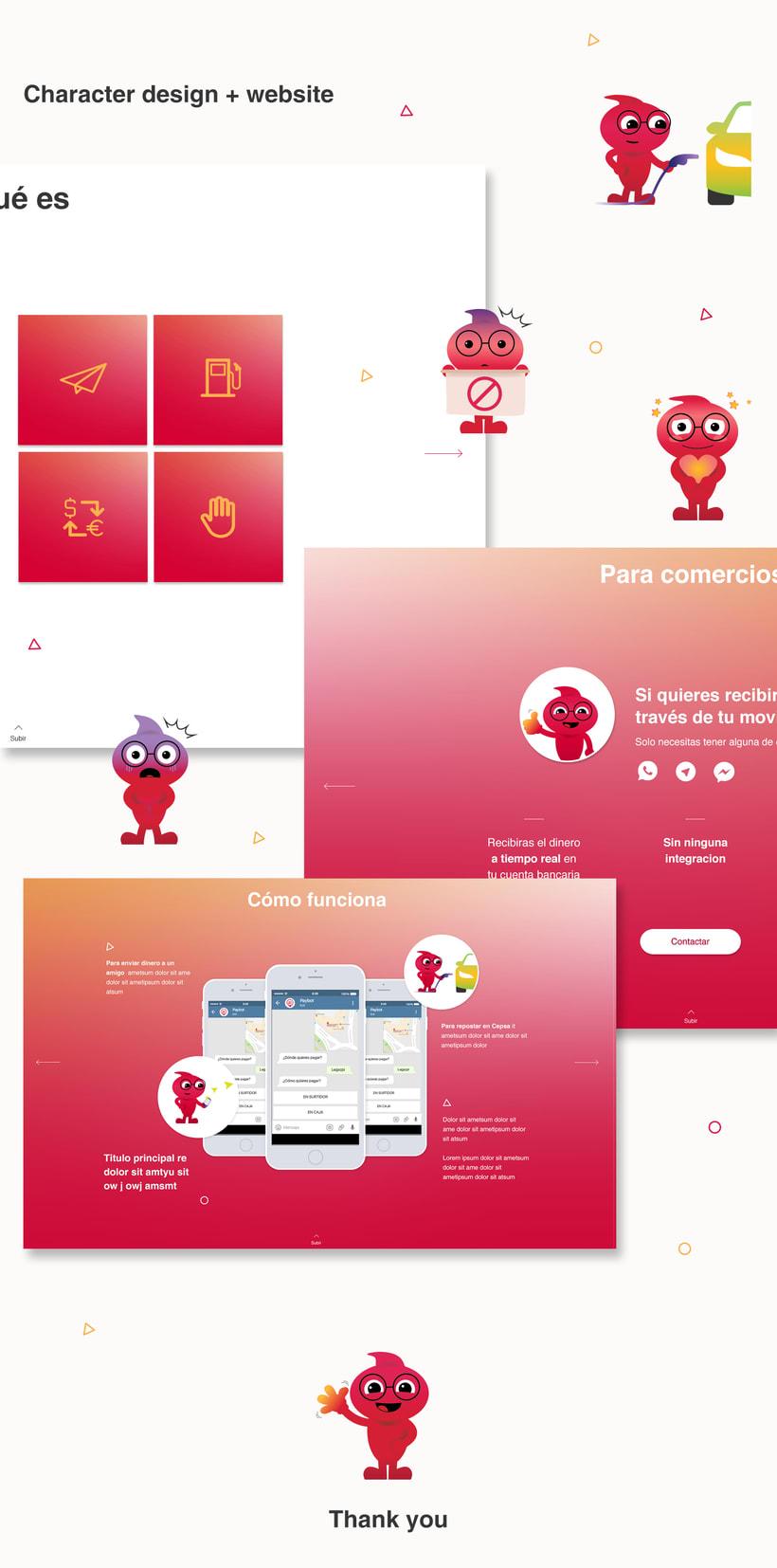Website & Character design 1