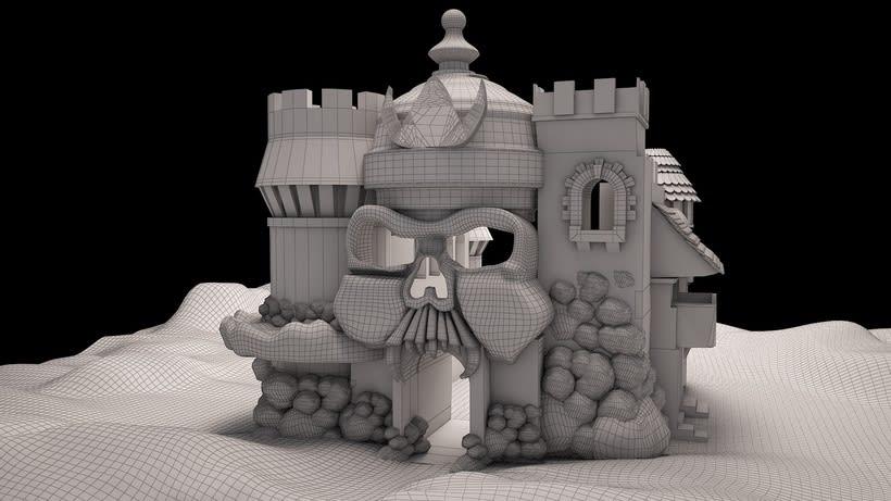 Modelado de Castillo para videojuego 0