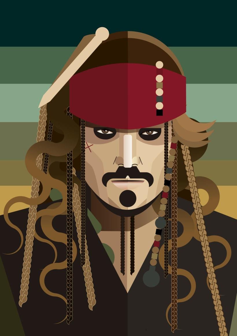 Ilustración Jack Sparrow -1
