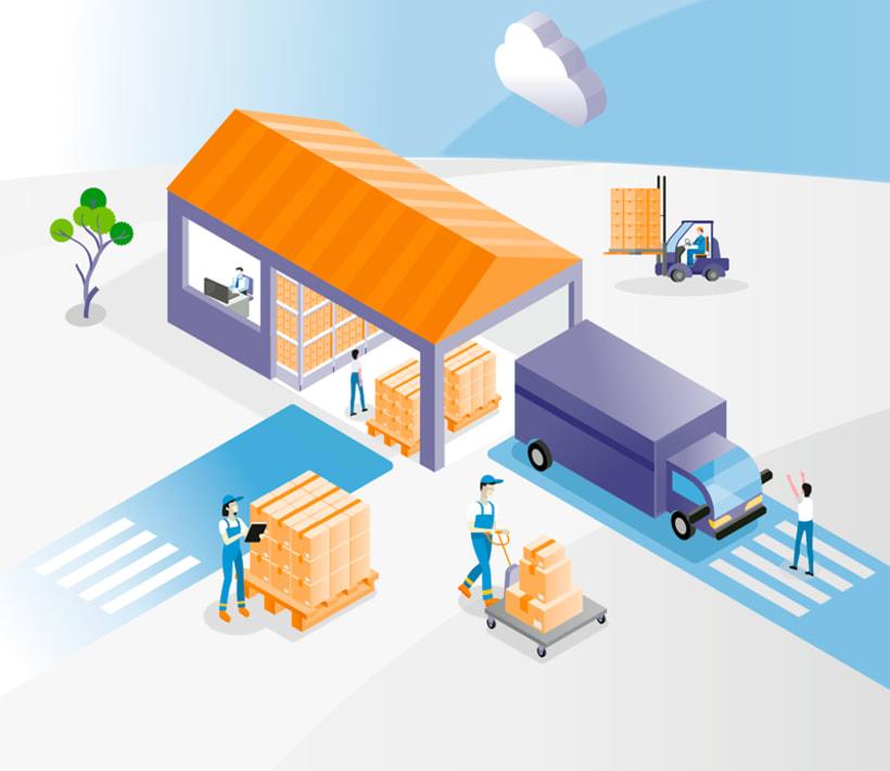 Ilustraciones vectoriales alquiler oficinas 4