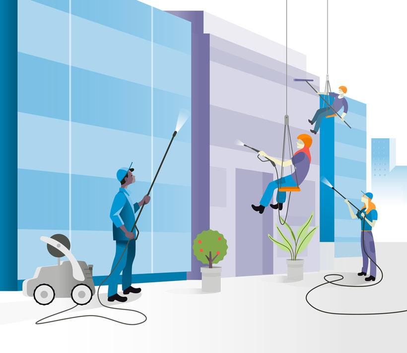 Ilustraciones vectoriales alquiler oficinas 5