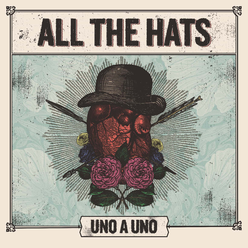 "Mi Proyecto del curso: Cartelismo ilustrado | All The Hats ""Uno a Uno"" 1"