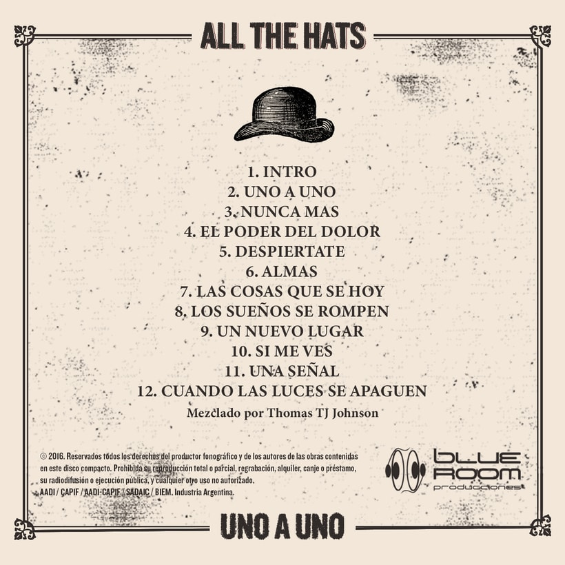 "Mi Proyecto del curso: Cartelismo ilustrado | All The Hats ""Uno a Uno"" 2"