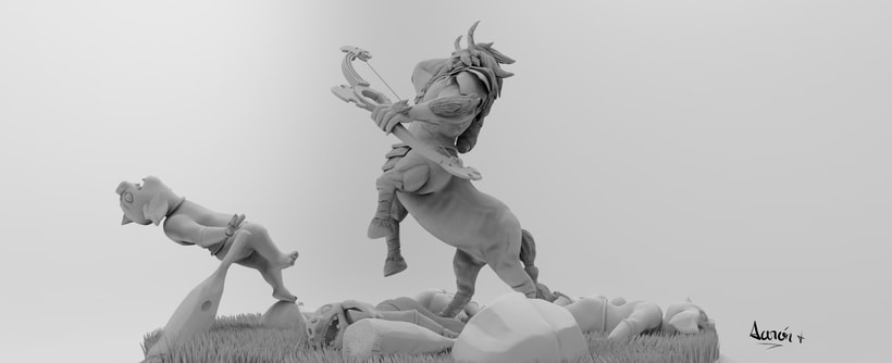Escultura de centaleón 2
