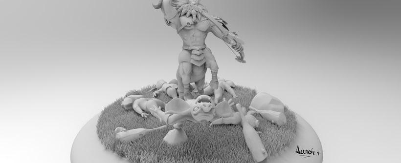 Escultura de centaleón 3