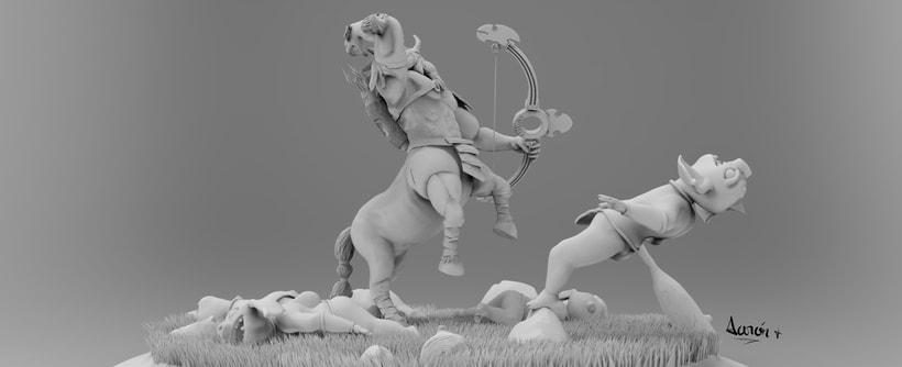 Escultura de centaleón 5