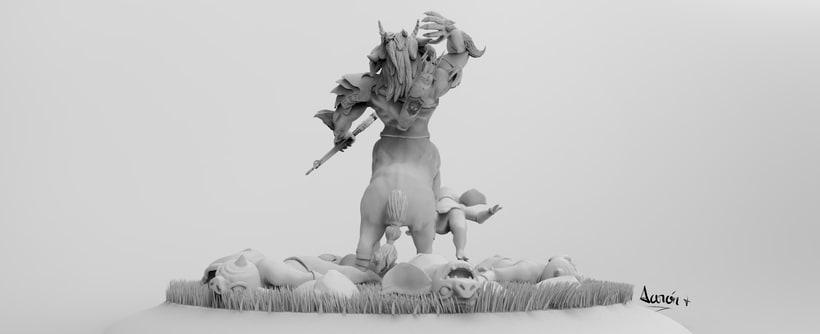 Escultura de centaleón 6