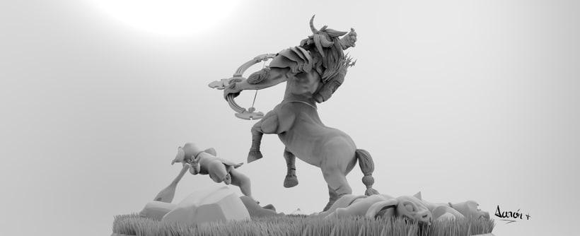 Escultura de centaleón 7