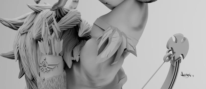Escultura de centaleón 11