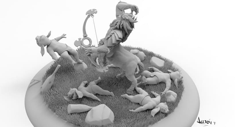 Escultura de centaleón 8