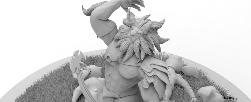 Escultura de centaleón 12
