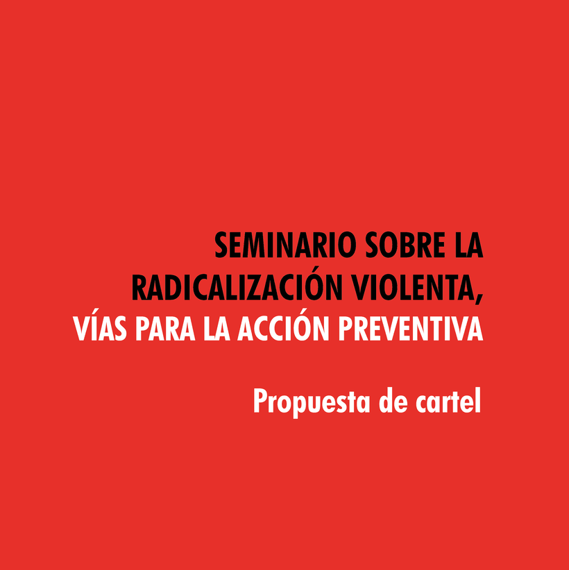 Cartel radicalización 0