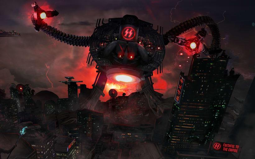 Concept art: Nazi Octopus Attack 2
