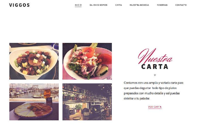 Diseño web: Restaurante Viggos 1