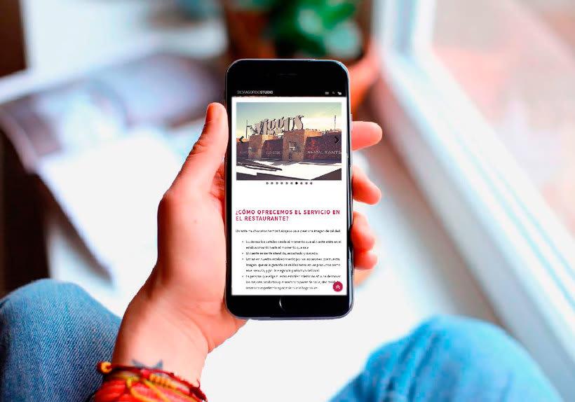 Diseño web: Restaurante Viggos 2