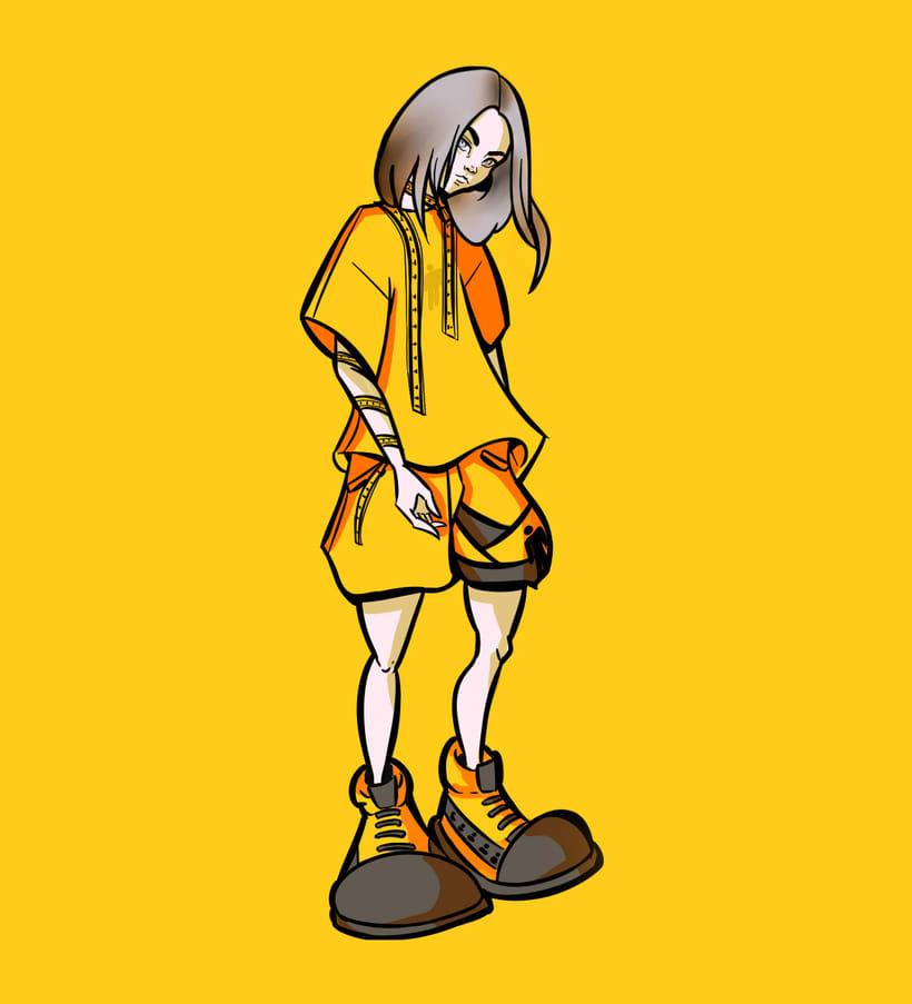 Billie Eilish Illustration -1