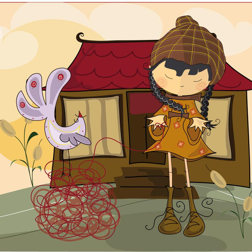 Akira. Ilustración para cuento infantil 3