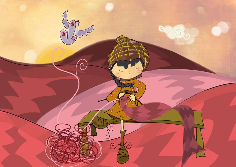 Akira. Ilustración para cuento infantil 4