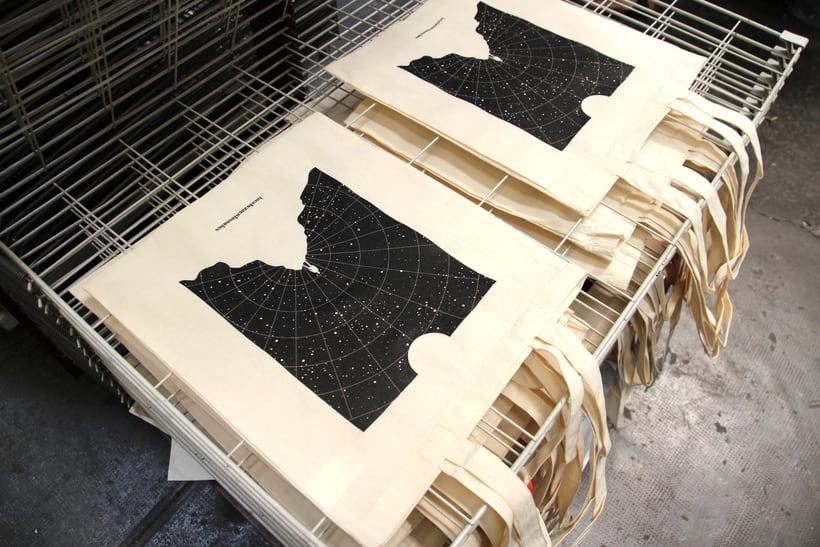 Estampación Tote Bags para el diseñador La Cabeza en las Nubes 16