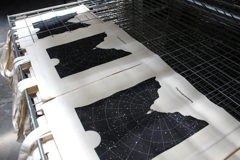 Estampación Tote Bags para el diseñador La Cabeza en las Nubes 17