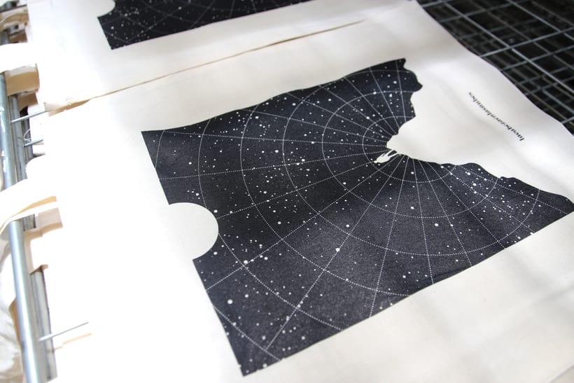 Estampación Tote Bags para el diseñador La Cabeza en las Nubes 18