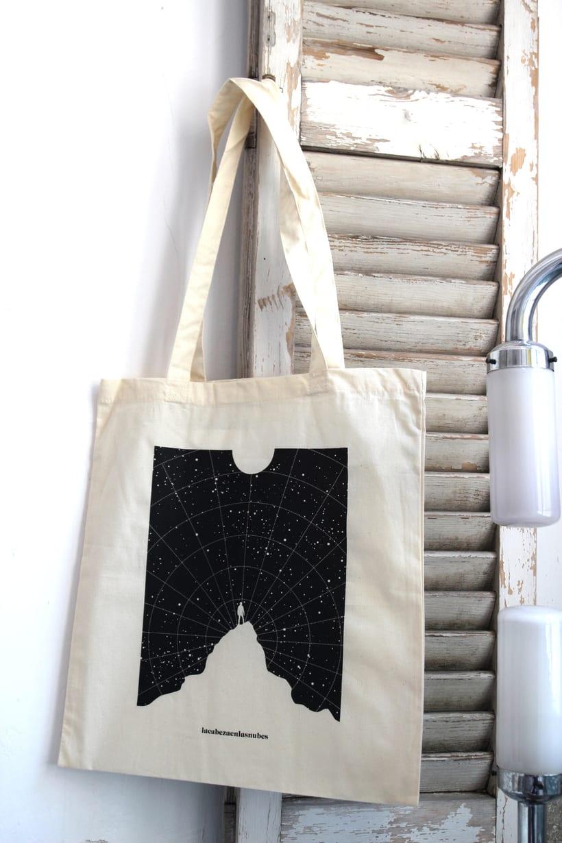 Estampación Tote Bags para el diseñador La Cabeza en las Nubes 24
