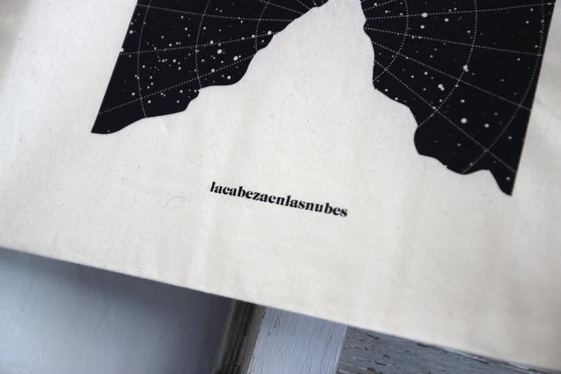 Estampación Tote Bags para el diseñador La Cabeza en las Nubes 25