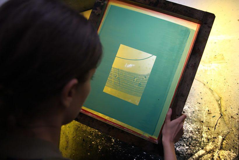 Estampación Lámina para la ilustradora Olga Capdevila  9
