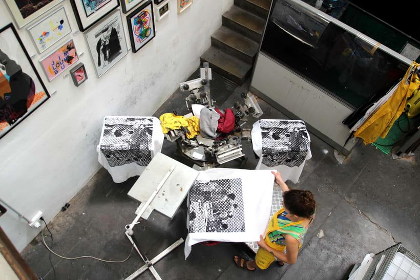 Estampación Toallas para la Festa del Grafisme 9