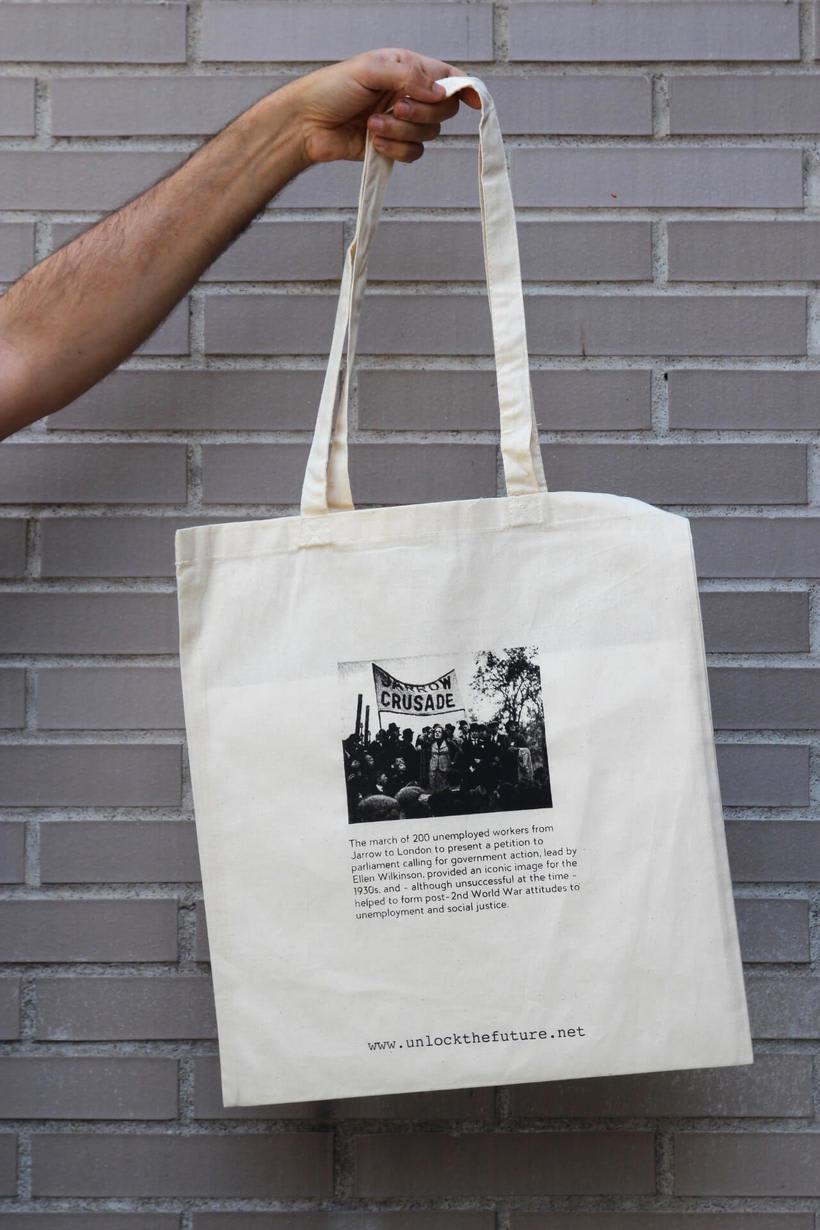Estampación Tote Bags para el proyecto feminista www.unlockthefuture.net 2