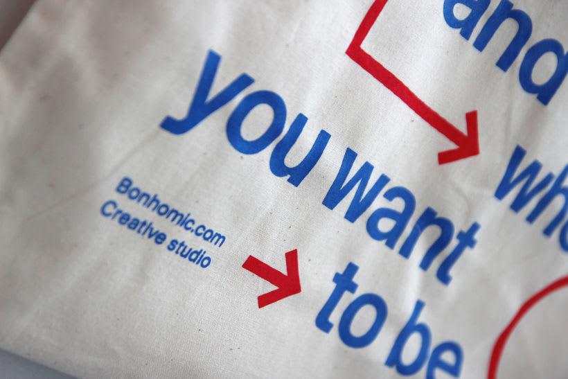 Estampación Tote Bags para el Aniversario del estudio creativo Bonhomic 14