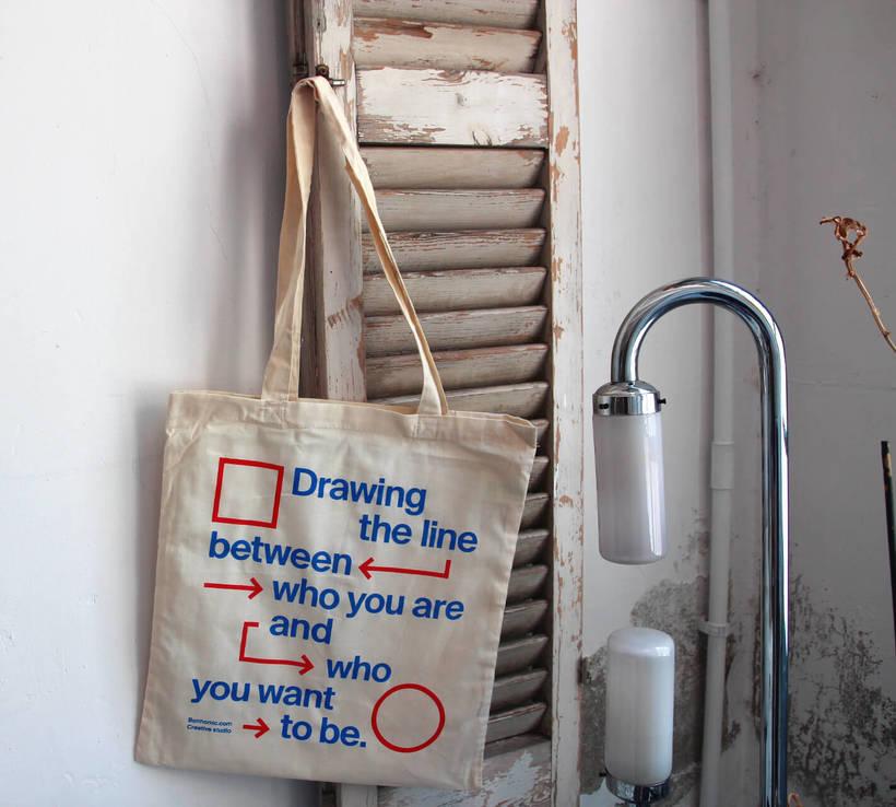 Estampación Tote Bags para el Aniversario del estudio creativo Bonhomic 19