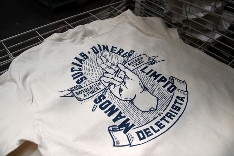 Estampación Camisetas para el rotulista El Deletrista 6