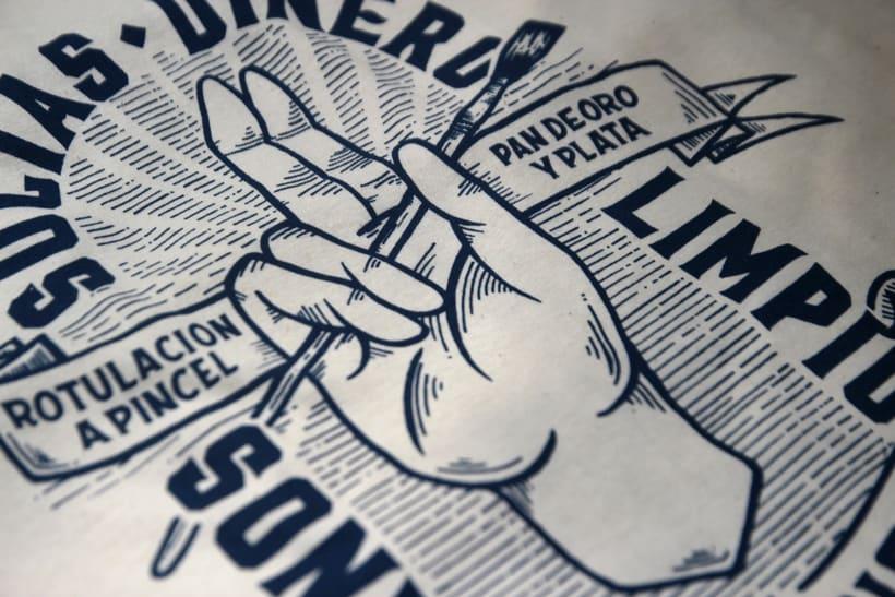 Estampación Camisetas para el rotulista El Deletrista 7
