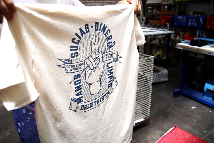 Estampación Camisetas para el rotulista El Deletrista 8