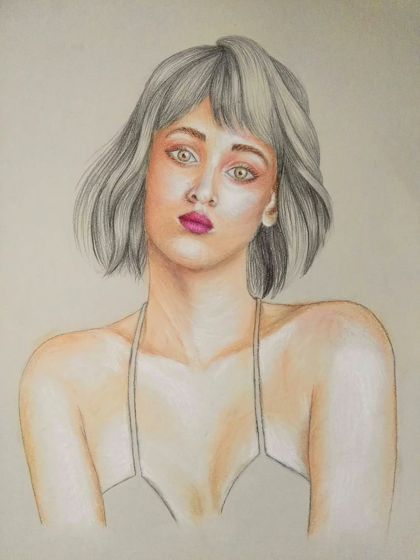 Mi Proyecto del curso: Ilustración con pastel y lápices de colores 1