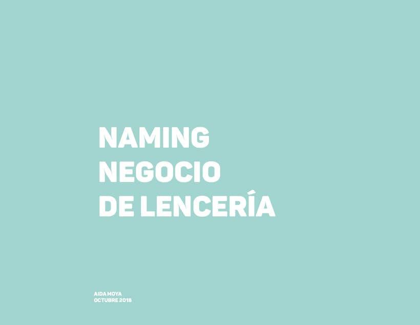 Naming: para una tienda de lencería  0
