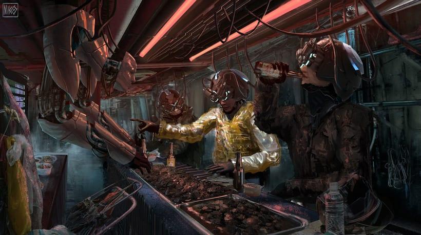 Cyberpunk Environments 3