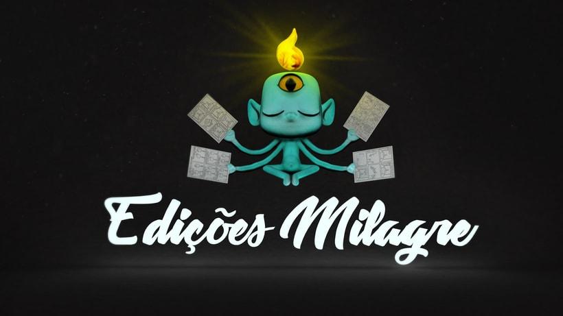 """Logo 3D """"Ediciones Milagro"""" -1"""