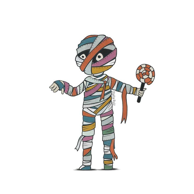 Diseño de personajes para Halloween 5