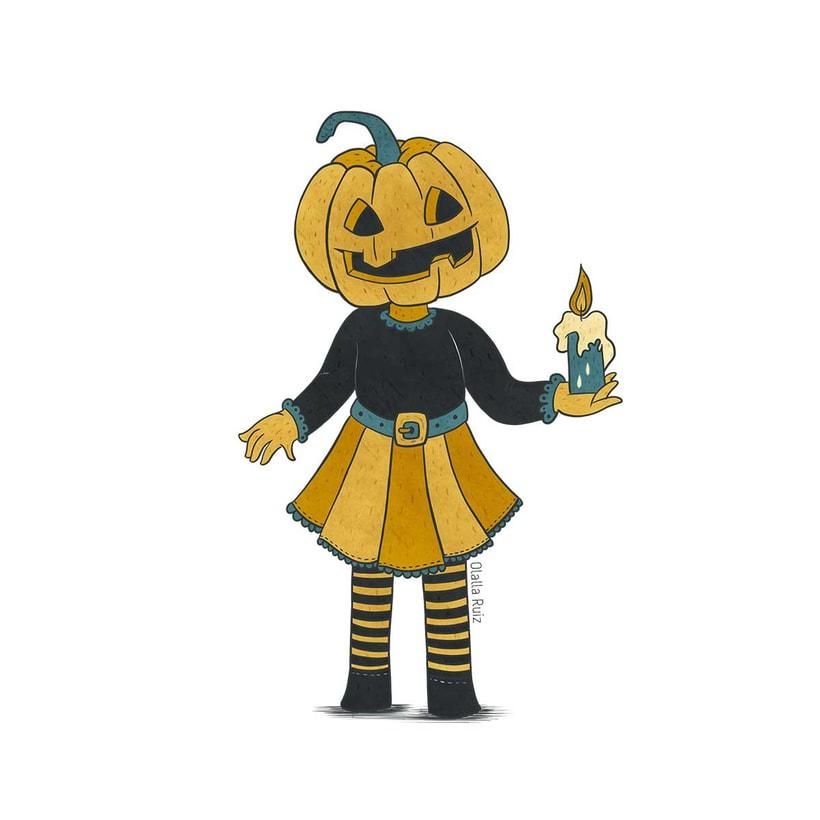 Diseño de personajes para Halloween 2