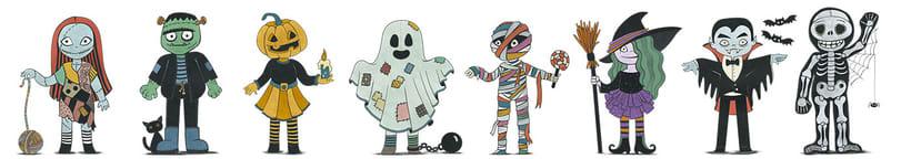 Diseño de personajes para Halloween 0