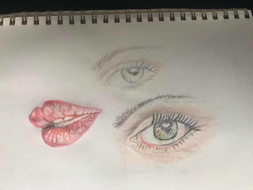 Mi Proyecto del curso:  Retrato realista con lápices de colores 0