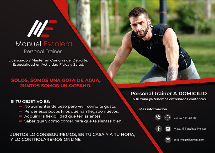 Flyer Personal Trainer Manuel Escalera 0
