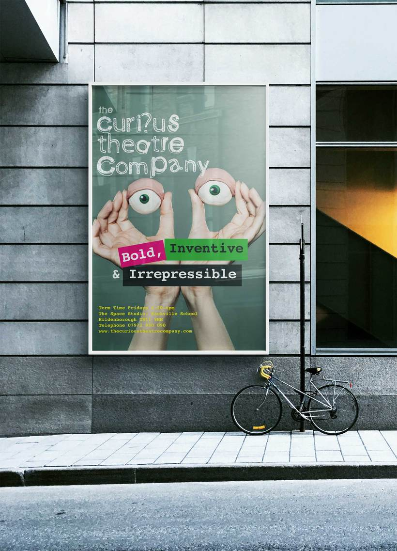 Diseño de posters The Curious Theatre Company 0